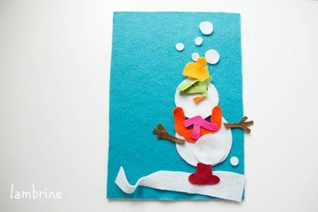 snowman felt oard vildist lumememm