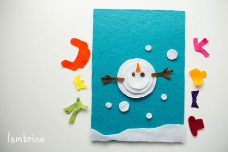 snowman felt board vildist lumememm