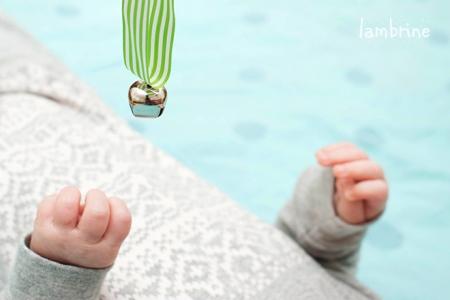 Montessori ring and bell on ribbon diy Montessori beebile