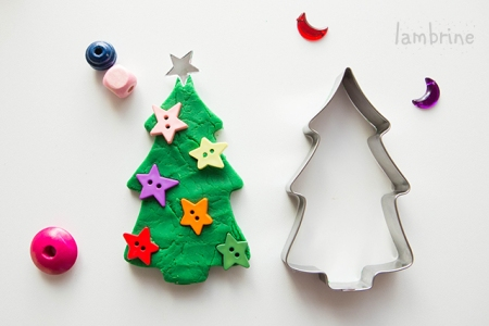 plastiliinist kuusk play dough christmas tree
