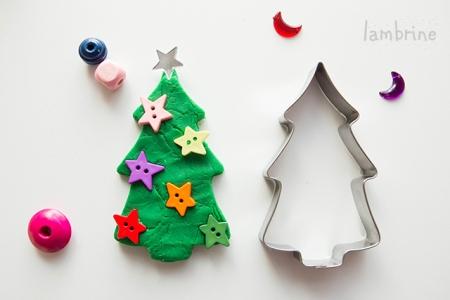 plastiliinist kuusk play dough christmas tree