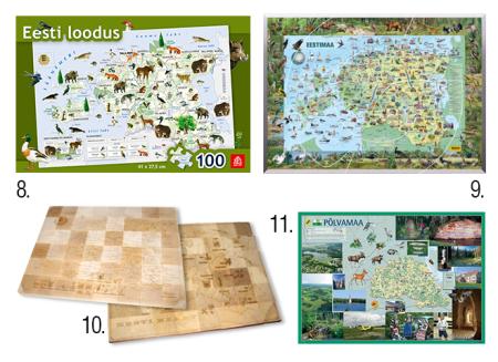 eesti pusled kaardid lastele