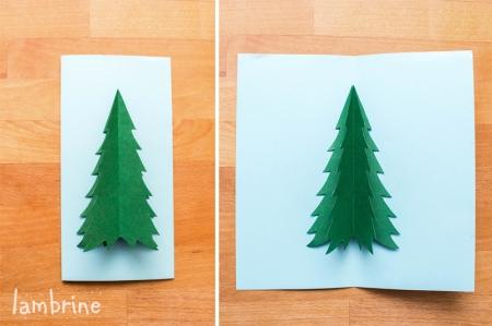 isetehtud jõulukaart lastele meisterdamiseks